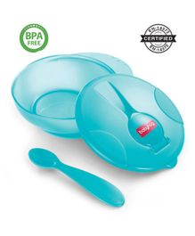 Babyhug Feeding Bowl With Spoon - Turquoise Green
