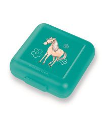 Crocodile Creek Sandwich Keeper Horse Print - Green