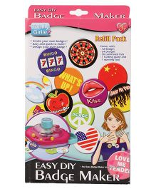 Totally Girlie, Badge Maker Refill - Multi Color