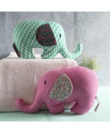 BOBTAIL by Misha's Creation Elephant Pair  - Green Pink