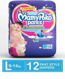 MamyPoko Extra Absorb Pant Style Diapers Large - 12 Pieces