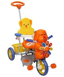 Mee Mee Puppy Face Tricycle With Push Handle -  Orange