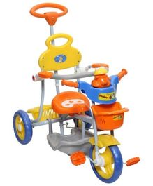 Mee Mee Baby Tricycle with Rocker Function (2 in 1) and Easy-to-Push Handle Orange