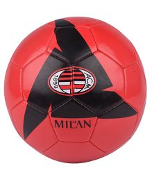 Kidsmojo A.C. Milan Football Size 5 - Red & Black