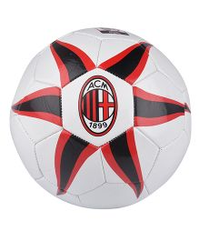 Kidsmojo A.C. Milan Size 5 Football - White & Red