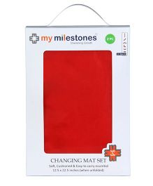 My Milestones Changing Mat Red - Set Of 2
