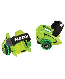 Razor Jetts DLX Heel Wheels - Neon Green