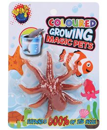 Karma Boing Colored Growing Magic Pet Octopus - Brown