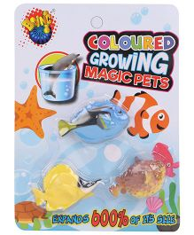 Karma Boing Colored Growing Magic Ocean Fish Set Of 3 - Blue Yellow