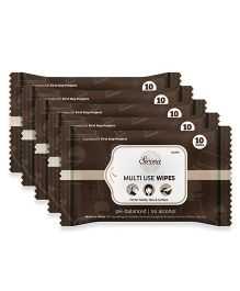 Multi Use Wet Wipes by Sirona Pack of 5 - 50 Wipes (10 Each)