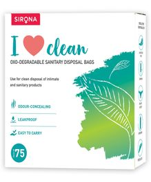 Sanitary and Diapers Disposal Bag by SIRONA - 75 Bags