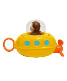 Skip Hop Zoo Bath Pull And Go Submarine Monkey Toy - Yellow
