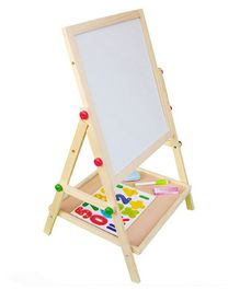 Emob Wooden 2 in 1 Blackboard And Whiteboard - Multicolor