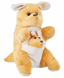 Deals India Kangaroo Mother And Baby Light Brown - Height 30 cm