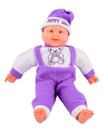 Deals India Musical Baby Doll Purple - 40 cm