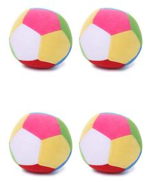 Deals India Soft Toy Ball Set of 4 Multicolor - 12 cm