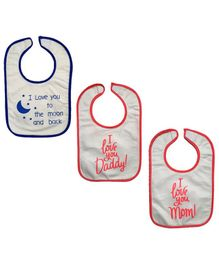 Meukebaby Bibs Quote Printed - Pack of 3