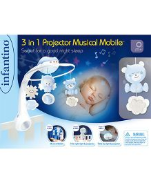 Infantino 3 In 1 Projector Musical Mobile - Multicolor