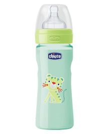 Chicco Feeding Bottle Lion Print Green - 250 ml