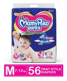 MamyPoko Extra Absorb Pant Style Diapers Medium - 56 Pieces