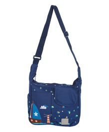 Mee Mee Diaper Bag Ship Print - Dark Blue