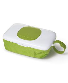 Oxo Tot On The Go Wipes Dispenser With Diaper Pouch - White Green