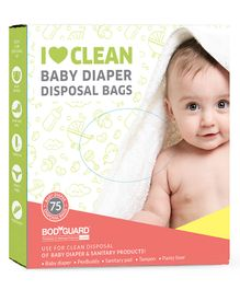 BodyGuard Baby Diapers & Sanitary Disposal Bag - 75 Bags