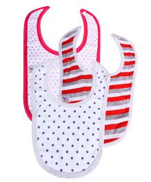 Colorfly Printed Bibs Pack Of 3 - (Colors may vary)