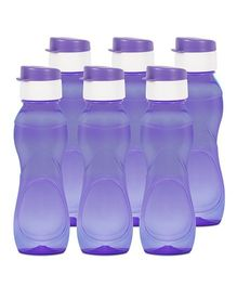 G-Pet Sipper Water Bottles Pack of 6 Purple - 1000 ml