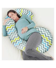 Rabitat Total Body Pregnancy Pillow With Jersey Cover - Multi Color