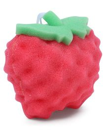 Apple Shaped Baby Bath Sponge - Pink