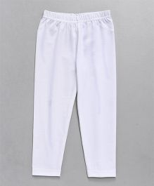 Babyhug Full Length Lycra Leggings - White