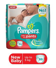 Pampers Pant Style Diapers New Born - 86 Pieces
