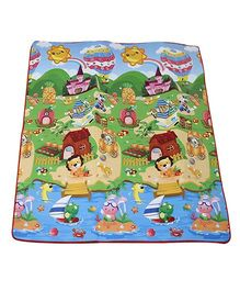 Paramount Waterproof Double Sided Play Mat House Print - Multicolour