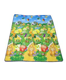 Paramount Anti Skid Double Sided Play Mat Fruit Print - Multicolour