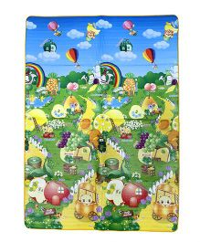 Paramount Double Sided Play Mat Fruit Print - Multicolour