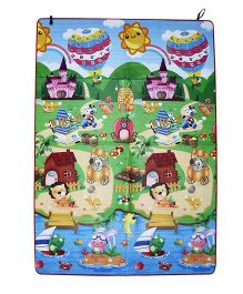 Paramount Double Sided Play Mat House Print - Multicolour