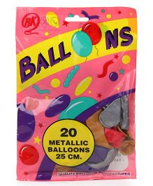 BK Balloons Metallic Pack Of 20