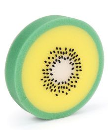 Kiwi Fruit Shaped Bath Sponge - Green Yellow