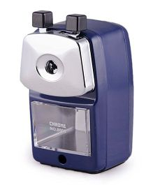 Chrome Metal Sharpener - Blue Silver