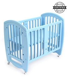 Babyhug Compacto Cot Cum Rocker And Study Table - Blue