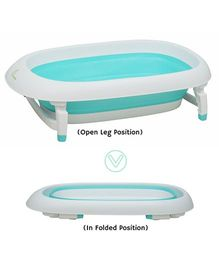 R for Rabbit Bubble Double Elite The Folding Baby Bath Tub - Sea Green
