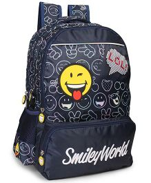 Smiley School Bag LOL Print Navy Blue - 17 inches