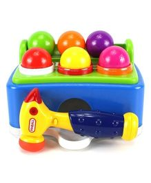 Webby Pinball Pounding Bench With Hammer (Assorted Colours)