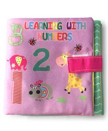 2 Footya Learning With Numbers Cloth Story Book - Purple