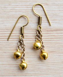 Pretty Ponytails Ethnic Hanging Earrings - Gold