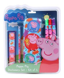 Peppa Pig Stationery Set Multicolour - 6 Pieces