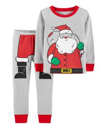 Carter's 2-Piece Christmas Snug Fit Cotton PJs - Grey Red