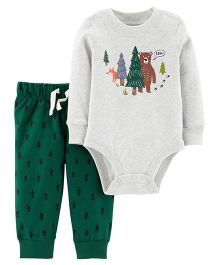 Carter's 2-Piece Bodysuit Pant Set - White Green
