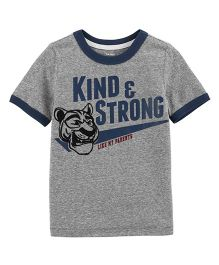 Carter's Kind & Strong Snow Yarn Ringer Tee - Grey